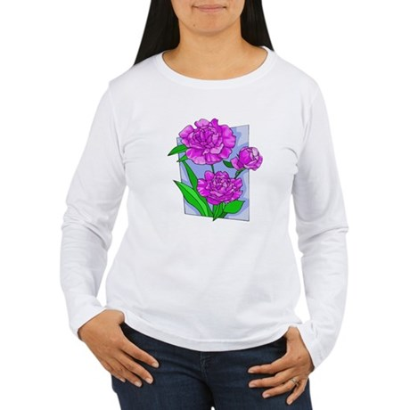Pink Peonies Women's Long Sleeve T-Shirt