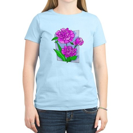 Pink Peonies Women's Light T-Shirt