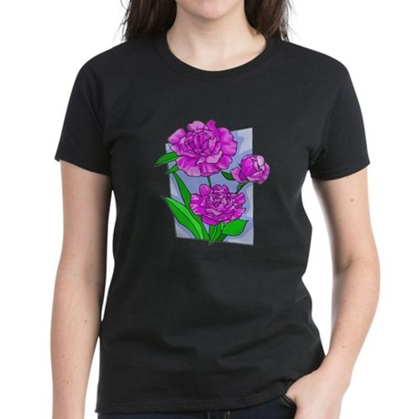 Pink Peonies Women's Dark T-Shirt