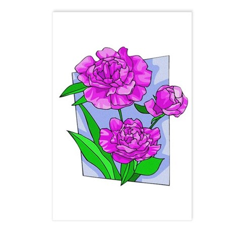 Pink Peonies Postcards (Package of 8)