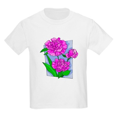 Pink Peonies Kids Light T-Shirt