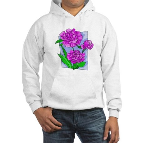 Pink Peonies Hooded Sweatshirt