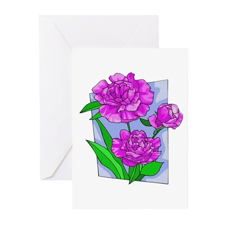 Pink Peonies Greeting Cards (Pk of 10)