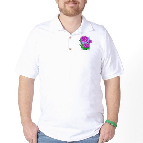 Pink Peonies Golf Shirt