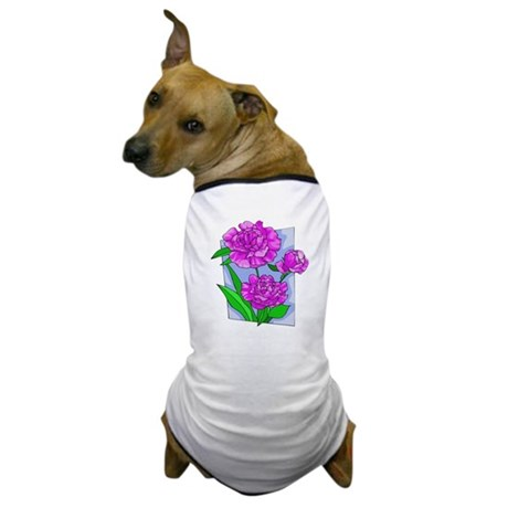 Pink Peonies Dog T-Shirt