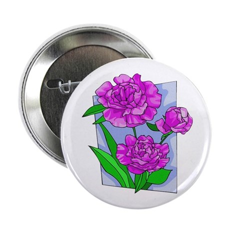 Pink Peonies Button