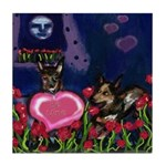 Australian Cattle Dog V-day Tile Coaster
