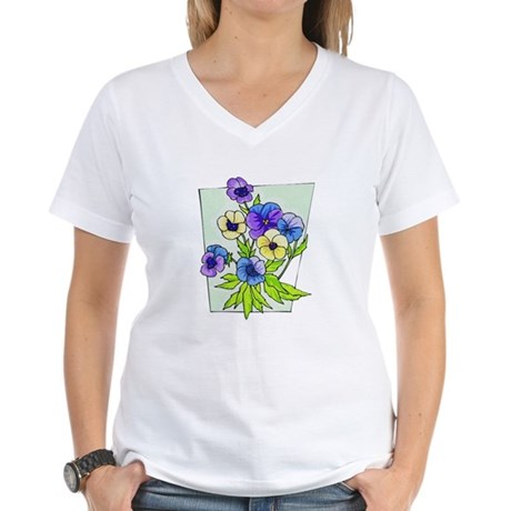 Pansy Women's V-Neck T-Shirt