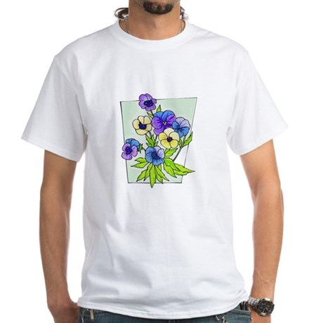 Pansy White T-Shirt