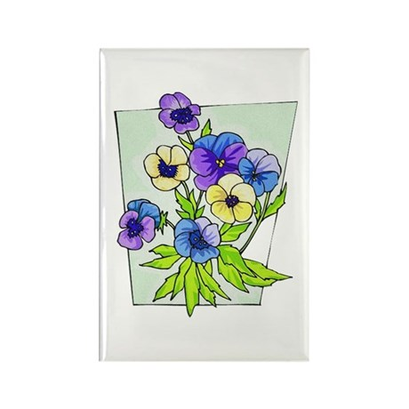 Pansy Rectangle Magnet (10 pack)