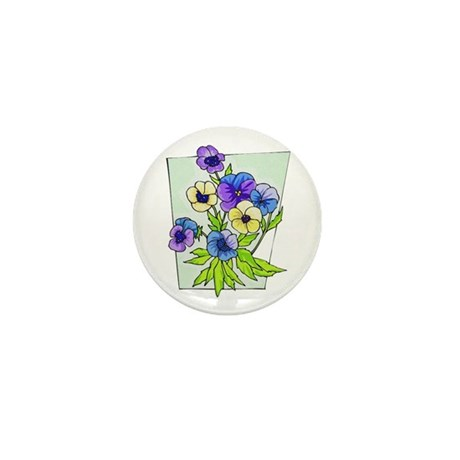 Pansy Mini Button (100 pack)