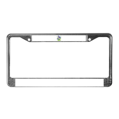 Pansy License Plate Frame
