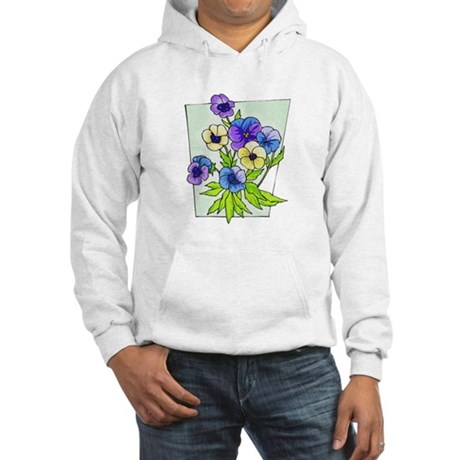 Pansy Hooded Sweatshirt
