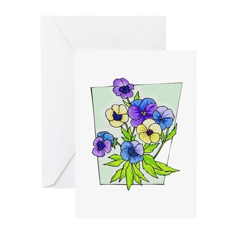 Pansy Greeting Cards (Pk of 10)