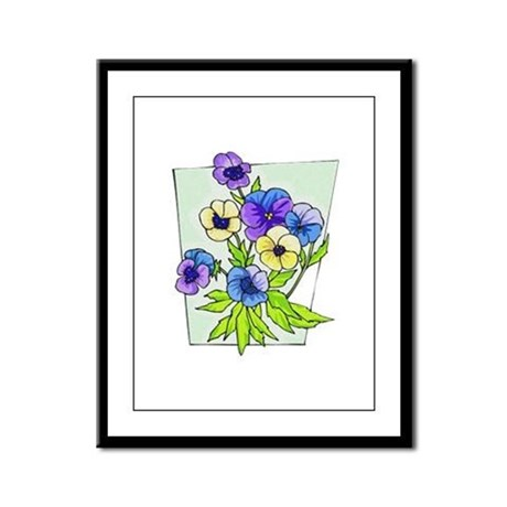 Pansy Framed Panel Print
