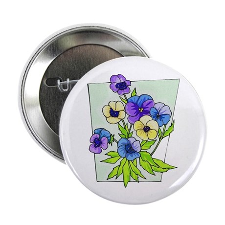 "Pansy 2.25"" Button (10 pack)"
