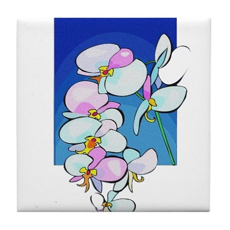 Sweet Peas Tile Coaster