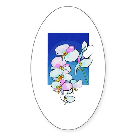 Sweet Peas Oval Sticker