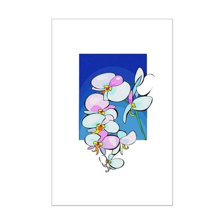 Sweet Peas Mini Poster Print