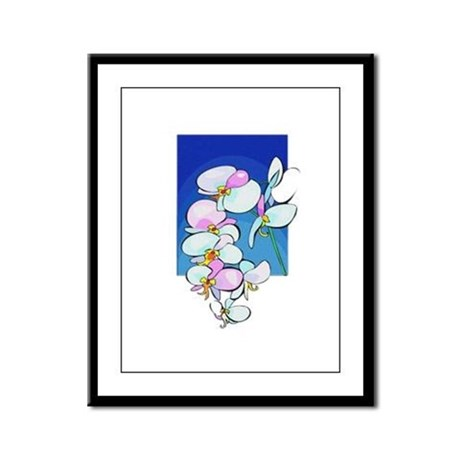 Sweet Peas Framed Panel Print
