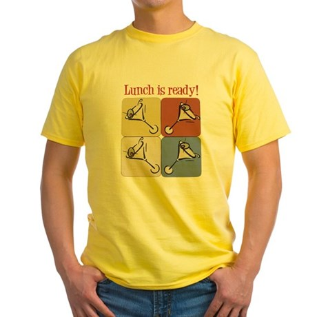 Martini, Lunch Is Ready Yellow T-Shirt