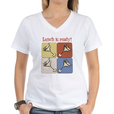 Martini, Lunch Is Ready Women's V-Neck T-Shirt