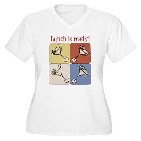 Martini, Lunch Is Ready Women's Plus Size V-Neck