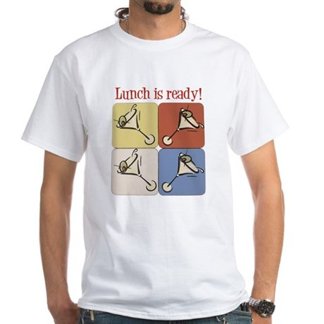 Martini, Lunch Is Ready White T-Shirt