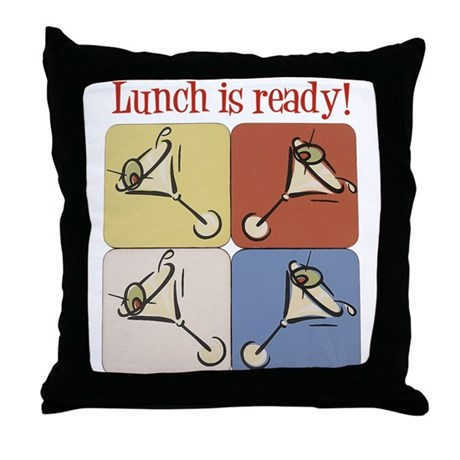 Martini, Lunch Is Ready Throw Pillow