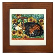 Cute Animal warriors Framed Tile