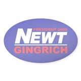NEWT GINGRICH PRESIDENT 2008 Oval Decal