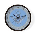 Blue Lodge Circle Wall Clock