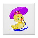 Baby Girl Duck Tile Coaster