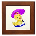 Baby Girl Duck Framed Tile
