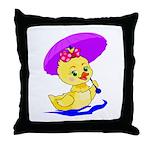 Baby Girl Duck Throw Pillow
