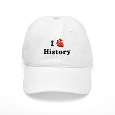 I (Heart) History Baseball Cap