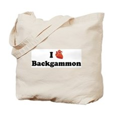 I (Heart) Backgammon Tote Bag