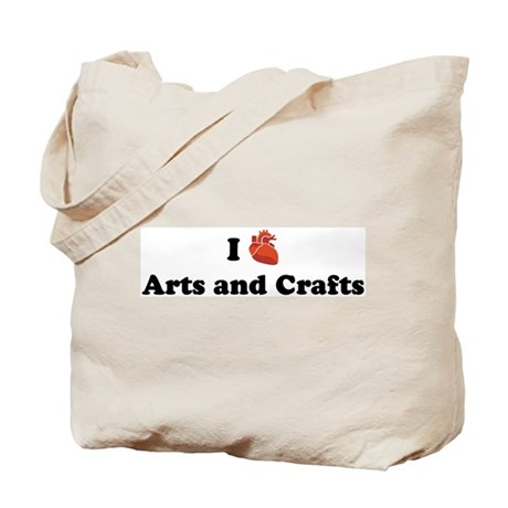 I heart arts and crafts tote bag by cardiaclove for Arts and crafts tote bags