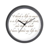 Life in Music Quote Wall Clock
