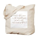 Life in Music Quote Tote Bag