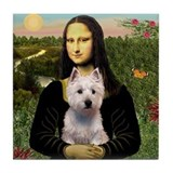 Mona Lisa & West Hightland Tile Coaster