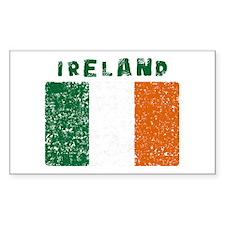 Irish Flag Mottled Rectangle Decal