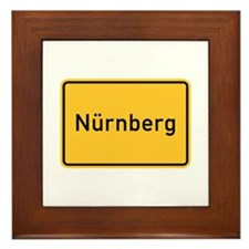 Nuremberg Roadmarker, Germany Framed Tile