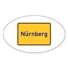 Nuremberg Roadmarker, Germany Oval Decal