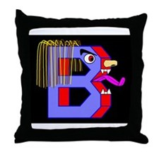 FACE OF THE LETTER B Throw Pillow