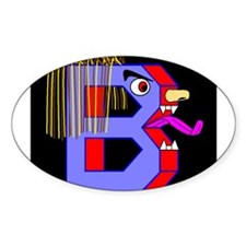 FACE OF THE LETTER B Oval Decal