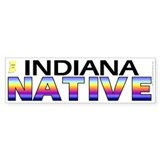 Indiana native (bumper sticker 10x3)