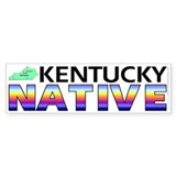Kentucky native (bumper sticker 10x3)