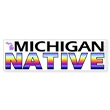 Michigan native (bumper sticker 10x3)