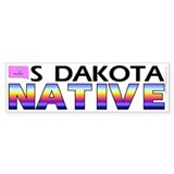 South Dakota native (bumper sticker 10x3)